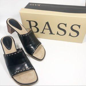 Bass | Tally | NWB Leather Open Toe Heel | 8.5M